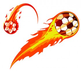 The 2 models cool flame Soccer Vector