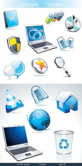 The Crystal style icon vector material of the sense of science and technology