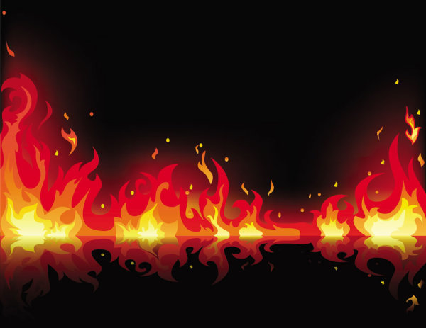 The exquisite flame vector material 01