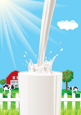 The milk theme vector material  4