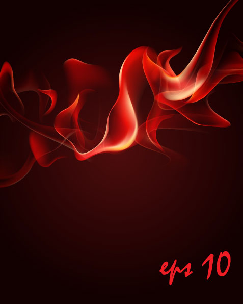 The red fumes flame vector material 3