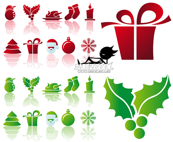 The simplicity Christmas icon vector material