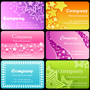 The stars theme card template vector material