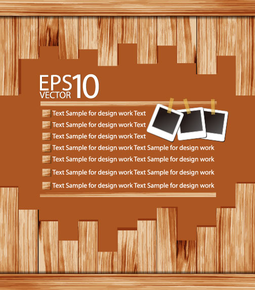 The wooden background 02 vector material