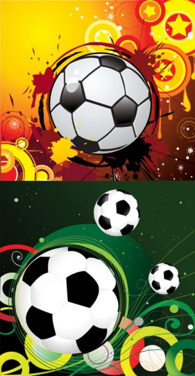 Trend football vector material