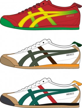 Trend sports shoes vector