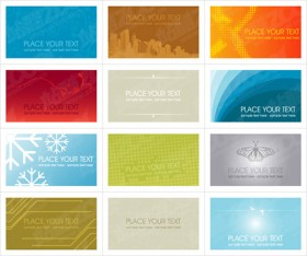 Variety card template background vector material