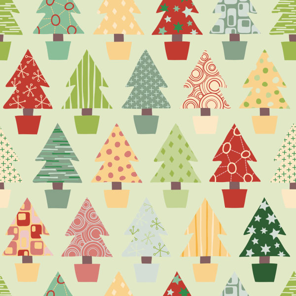 Vector elegant Christmas background pattern 05 vector material