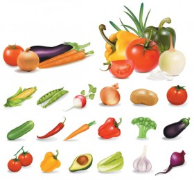 Vegetables vector material