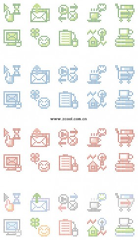 the minimalist pixel graphics vector material  3