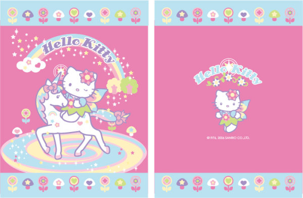 pink kitty and unicorn vector material