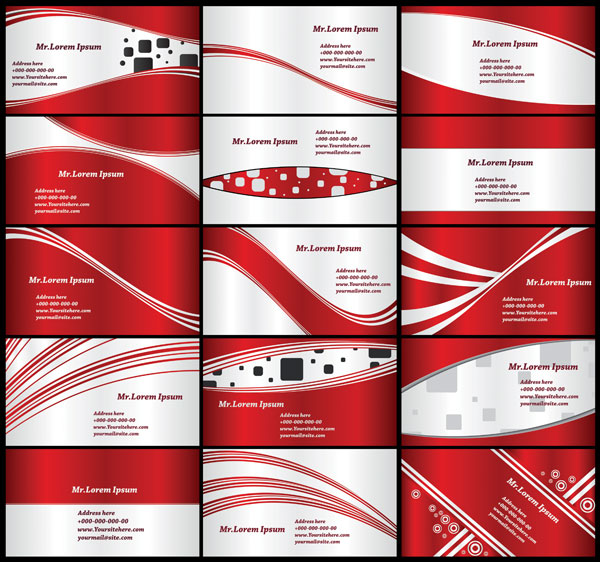 red card background vector material