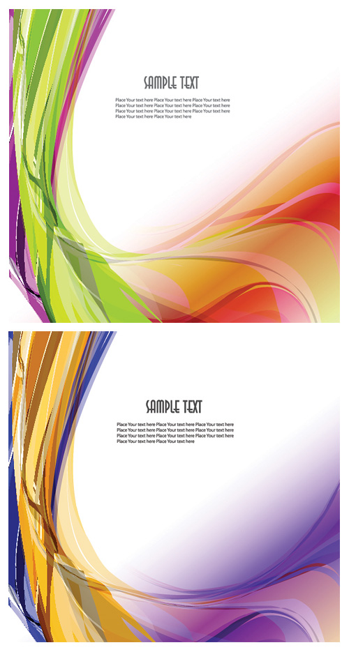 2 models Symphony dynamic wavy lines vector background