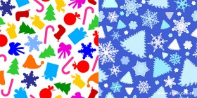 2 models cute Christmas background Vector