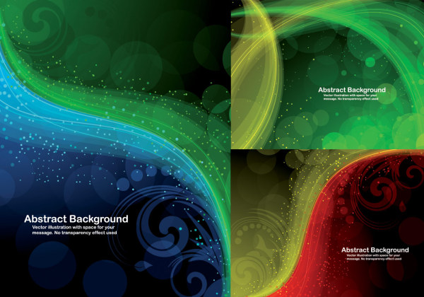 3 models cool dynamic light pattern background vector material
