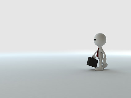 3D little people running the business Images