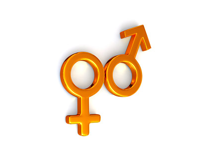 3d male and female symbols Images