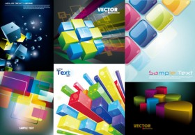 A colorful three dimensional vector material