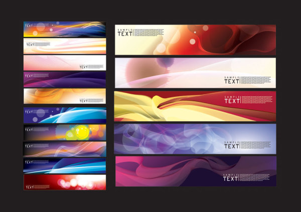 Beautiful dream banner background vector material
