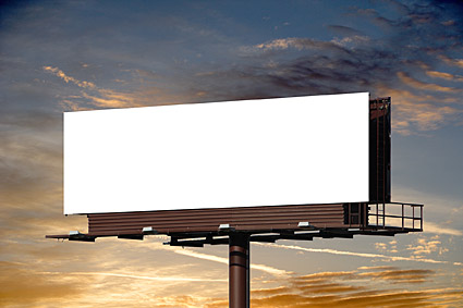 Blank large outdoor billboard picture material  1