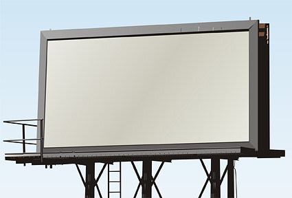 Blank large outdoor billboard picture material  4