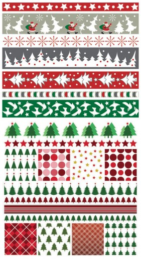 Christmas two party continuous background 01 vector material
