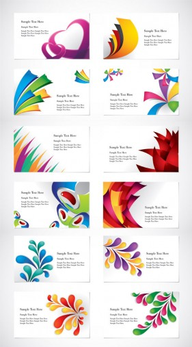 Colorful card template vector material