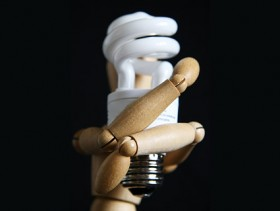 Energy saving light bulb picture material  1