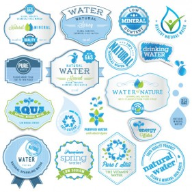 European beautifully marked stickers 04 Vector