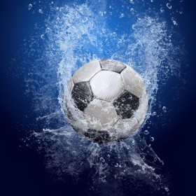 HD picture of falling into water football