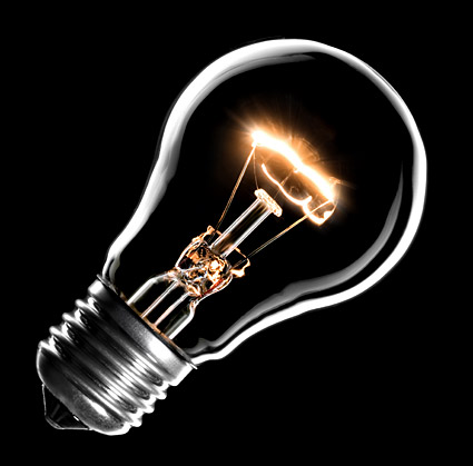 Incandescent light bulb picture material