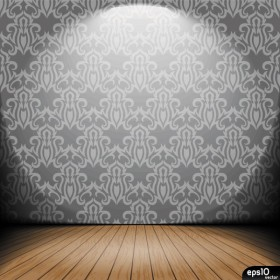 Indoor Wallpaper 01 vector material
