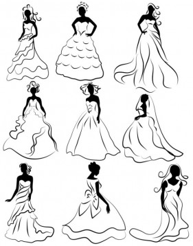 Line issued on bridal 02 vector material