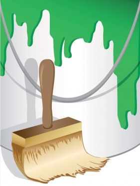Paint sweep vector material