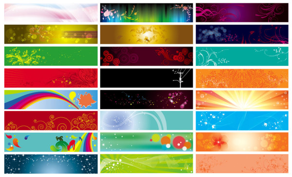 Practical beautifully banner banner background vector material
