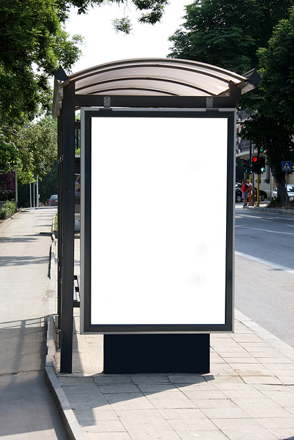 Shelters billboard blank template picture of material