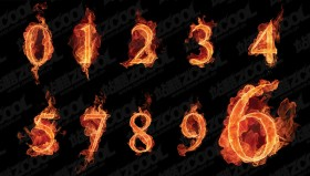The Arabic numerals Images burning