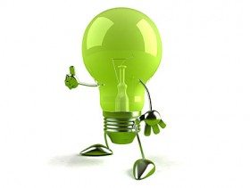 The green bulb kid picture material