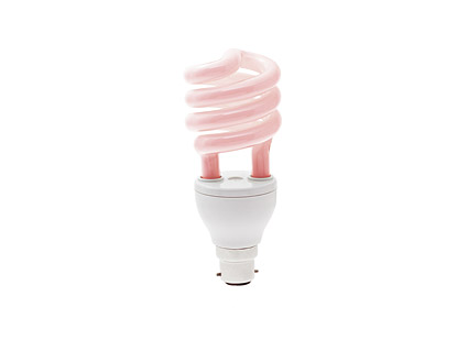 The pink energy saving lamp Images