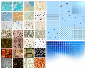 Variety of all kinds of background vector material
