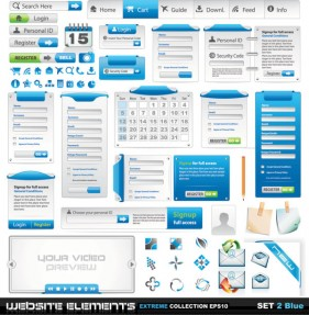 Web design elements 02 vector material