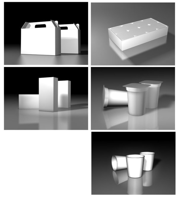 3D white version of the effect of some of the packaging Convenience do not understand the three dimensional software design paste effect diagram with