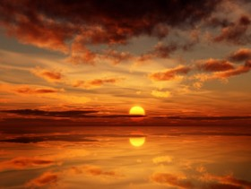 Beautiful sunset picture material