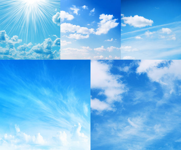 Blue sky and white clouds high definition picture
