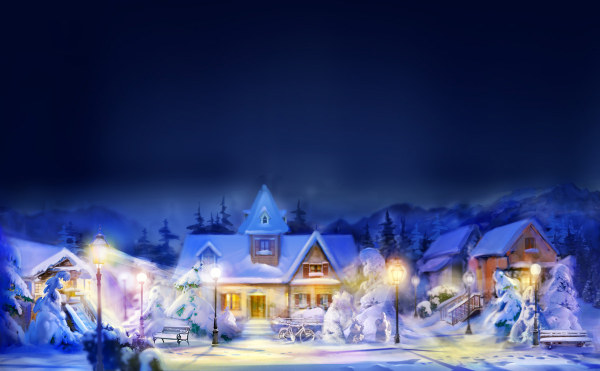 Christmas night high quality pictures