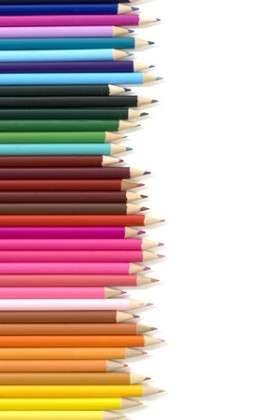 Colored pencil arranged Images