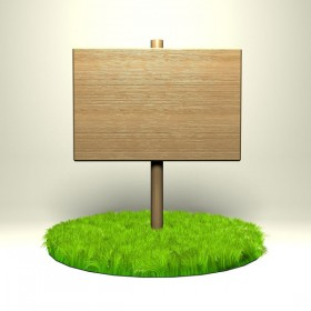 Grass with wooden plaque HD Images