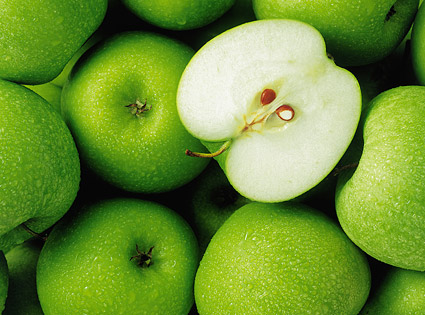Green Apple Background Images