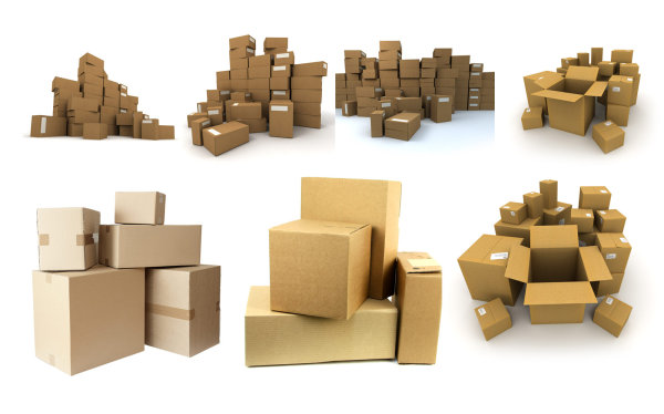 High definition picture   pile of cardboard boxes