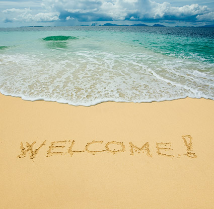 Seaside welcome you Images